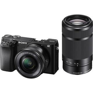 Sony Alpha A6100 + 16-50 mm + 55-210 mm černý