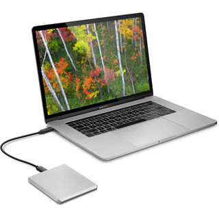 LaCie Mobile Drive USB-C 1TB stříbrný