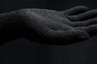 Mujjo jednovrstvé pletené dotykové rukavice, velikost M černé