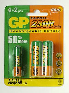 GP AA baterie 4x 2300mA + AAA 2x700mA