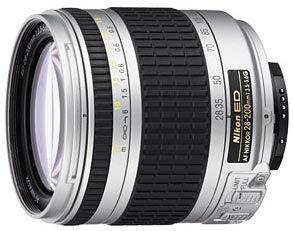 Nikon 28-200 mm F3,5-5,6G IF-ED AF ZOOM-NIKKOR STŘÍBRNÝ, ČERNÝ s LC-62 / HB-30 / LF-1