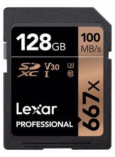 Lexar SDXC 128GB 667x Professional Class 10 UHS-I U3 (V30)