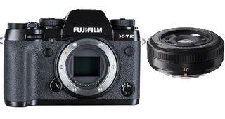 Fujifilm X-T2 tělo + 27 mm f/2,8 černý