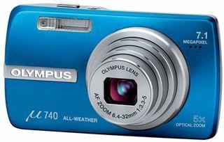Olympus Mju 740 modrý
