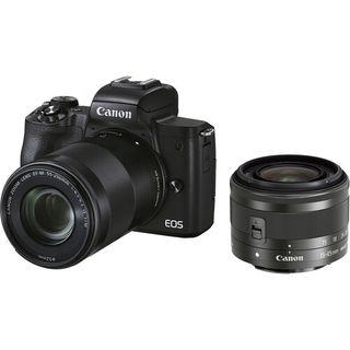 Canon EOS M50 + 15-45 mm + 55-200mm černý