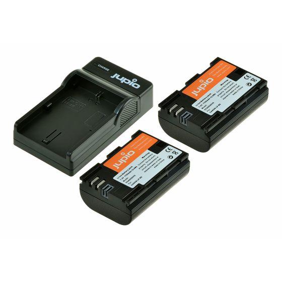 Jupio Kit 2x LP-E6N + USB Dual Charger pro Canon