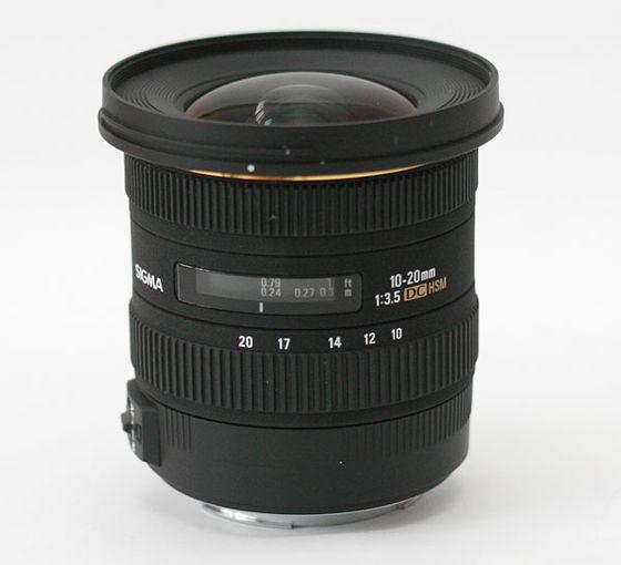 Sigma 10-20 mm f/3,5 EX DC HSM pro Nikon