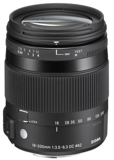 Sigma 18-200 mm f/3,5-6,3 DC Macro OS HSM Contemporary pro Canon