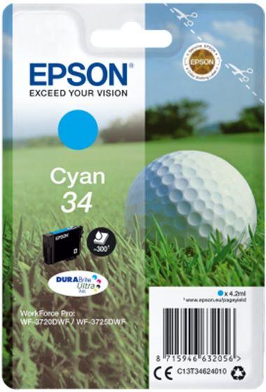 Epson Singlepack T34624010 Cyan 34 DURABrite - azurová