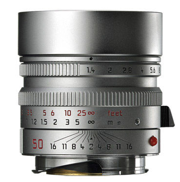Leica 50 mm f/1,4 ASPH SUMMILUX-M stříbrný
