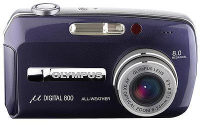 Olympus Mju 800 Digital modrý + Mju digital kit + karta xD 256MB P