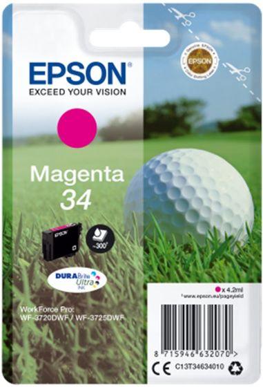 Epson Singlepack T34634010 Magenta 34 DURABrite - purpurová