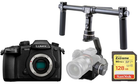 Panasonic Lumix DC-GH5 tělo + stabilizátor + karta 128GB!
