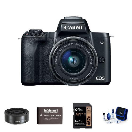 Canon EOS M50 + 15-45 mm + 22mm černý - Základní kit