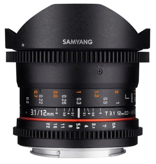 Samyang CINE 12 mm T/3,1 ED AS NCS VDSLR Fisheye pro Fuji X