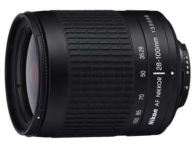 Nikon 28-100 mm F3,5-5,6G AF ZOOM NIKKOR STŘÍBRNÝ, ČERNÝ