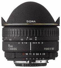 Sigma 15 mm F 2,8 EX DG DIAGONAL rybí oko pro Sigma + utěrka Sigma zdarma!
