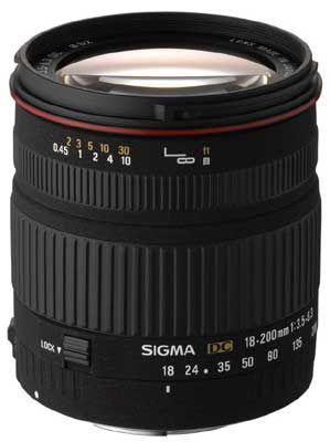 Sigma 18-200 mm F 3,5-6,3 DC pro Canon + utěrka Sigma zdarma!