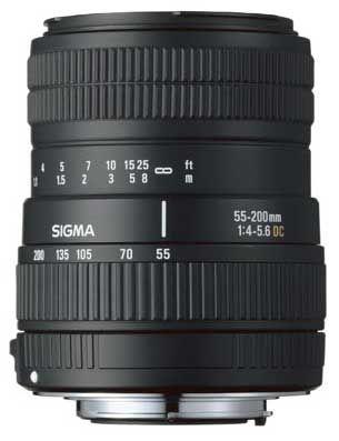 Sigma 55-200 mm F 4-5,6 DC pro Sony + utěrka Sigma zdarma!