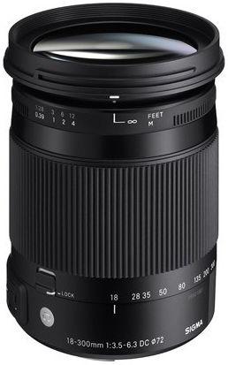 Sigma 18-300 mm f/3,5-6,3 DC Macro OS HSM Contemporary pro Canon