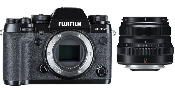 Fujifilm X-T2 tělo + 35 mm f/2,0 R WR černý
