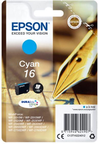 Epson Singlepack T16224012 Cyan 16 DURABrite - azurová