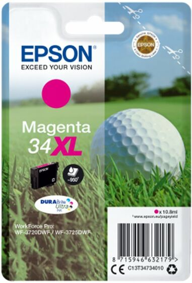 Epson Singlepack T34734010 Magenta 34 XL DURABrite - purpurová