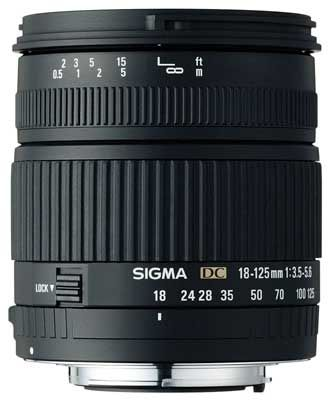 Sigma 18-125 mm F 3,5-5,6 DC pro Nikon + utěrka Sigma zdarma!