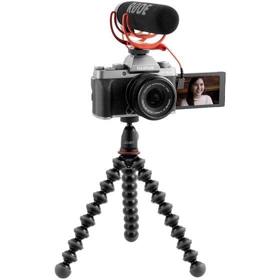 Fujifilm X-T200 Vlogger kit - tmavě stříbrný