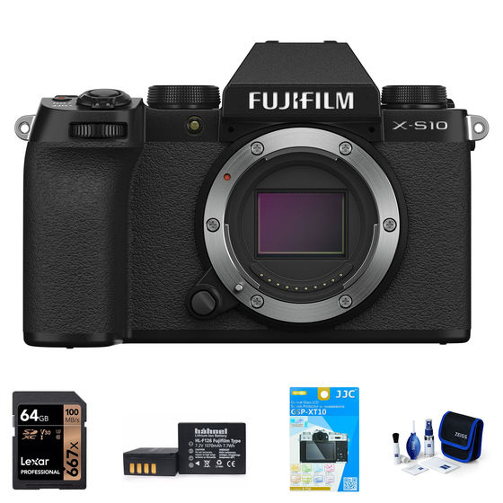 Fujifilm X-S10 tělo černý - Foto kit