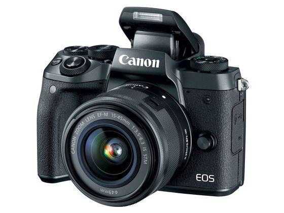 Canon EOS M5 + 15-45 mm STM + adaptér EF-EOS M černý
