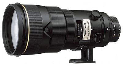 Nikon 300 mm F2,8D AF-S II IF-ED ČERNÝ s HK-26 / LN-1