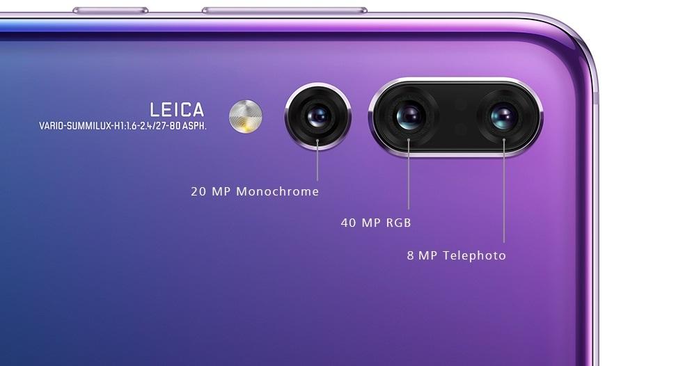 Huawei P20 Pro fotoaparáty