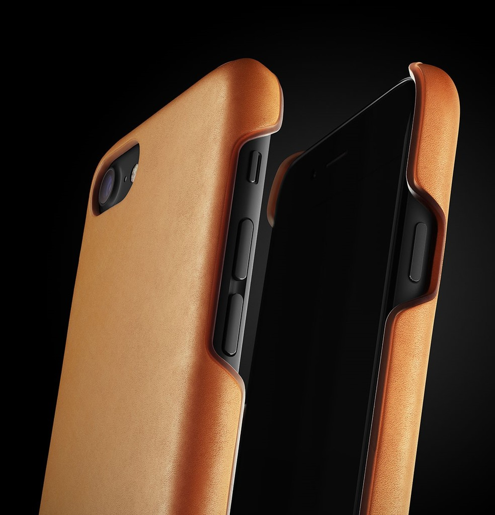 Leather Case for iPhone 7 - Tan - 004