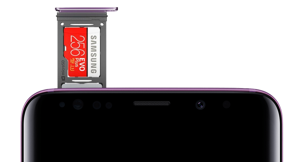 Samsung Galaxy S9 paměťová karta