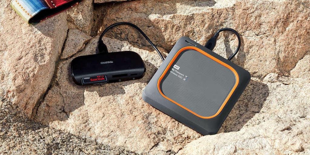 WD My Passport Wireless SSD čtečka paměťových karet