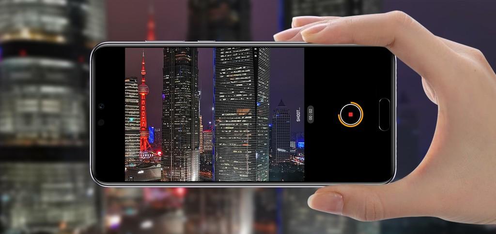 Huawei P20 AI stabilizace