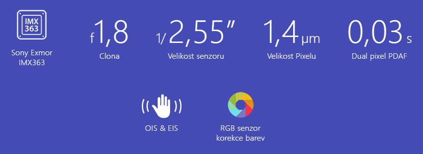 Asus Zenfone 5 fotoaparát specifikace
