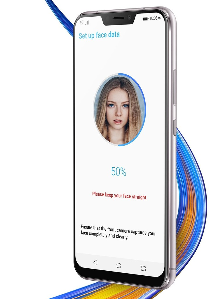 Asus Zenfone 5 zabezpečení obličejem