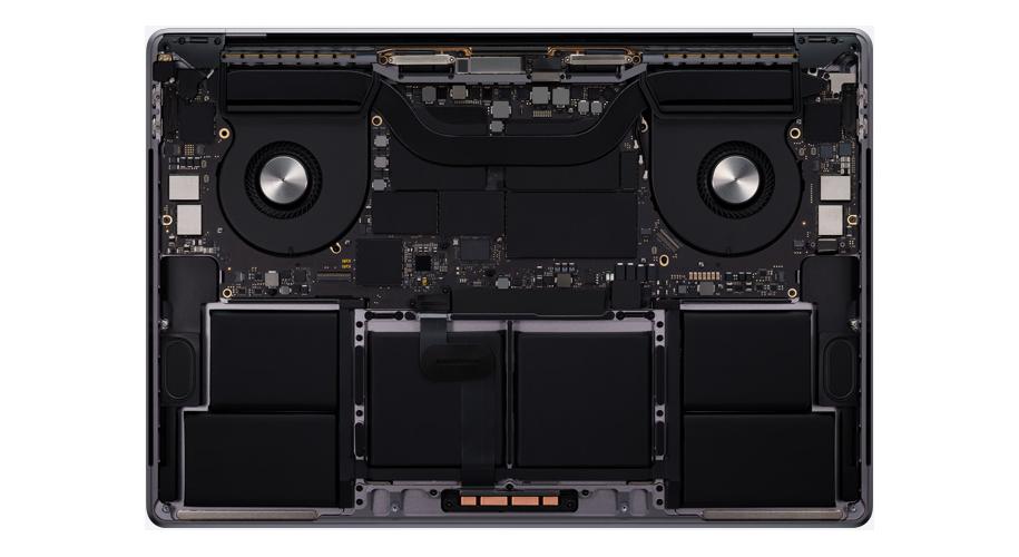Apple Macbook Pro 16 chlazení