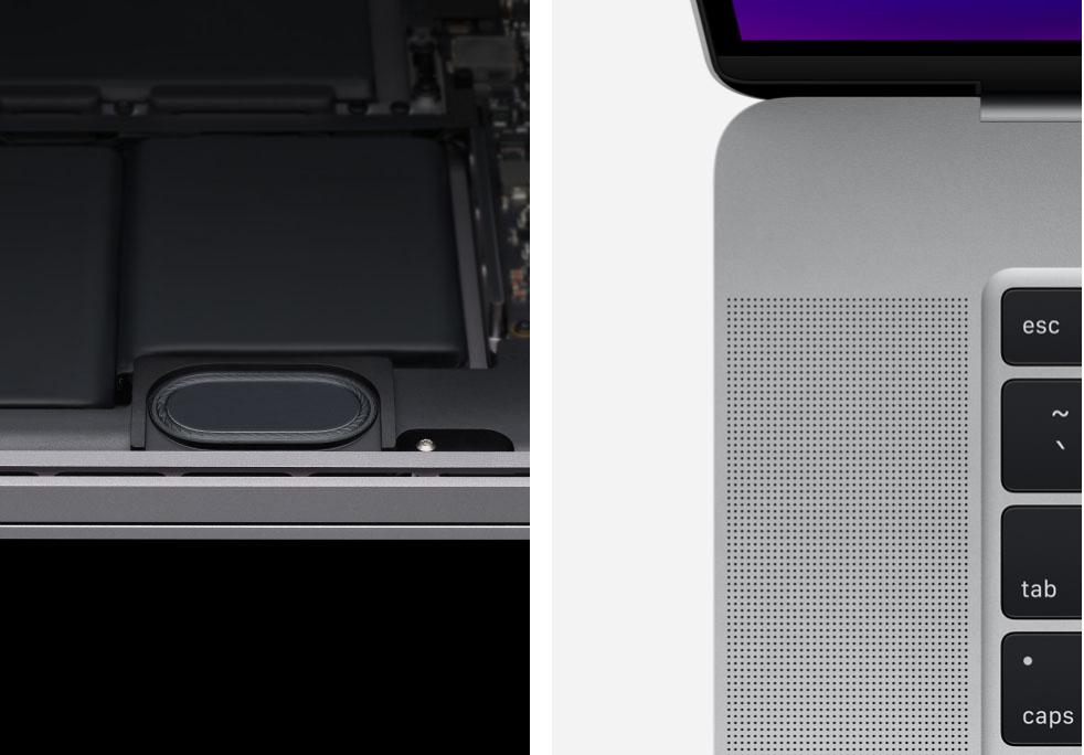 Apple Macbook Pro 16 reproduktory