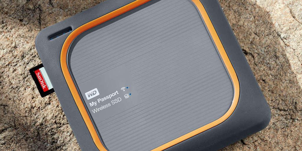 WD My Passport Wireless SSD integrovaná čtečka karet