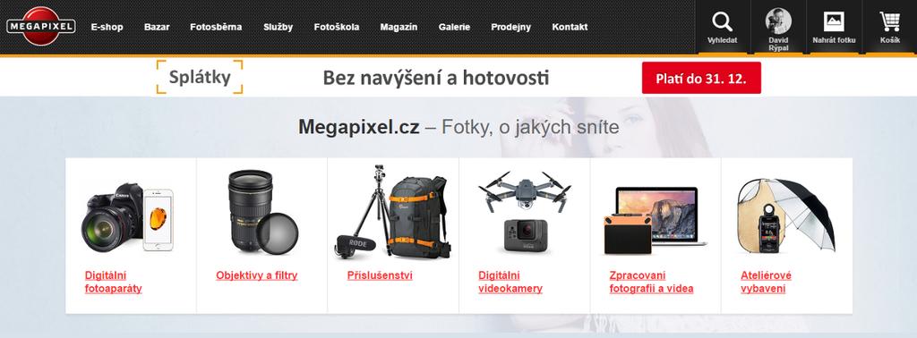 Nová HP Megapixel produktový rozcestník