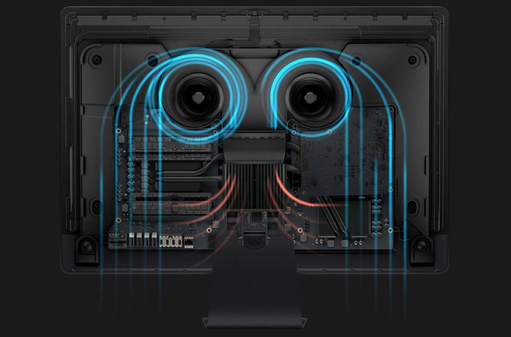 Apple iMac Pro hardware a chlazení