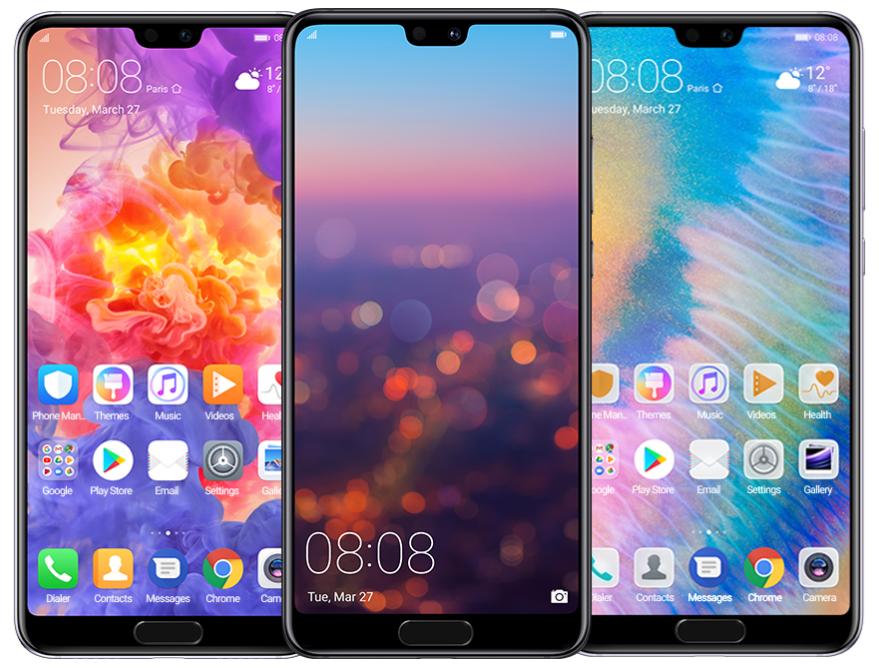 Huawei P20 displej