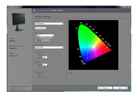 BenQ SW240 kalibrační software