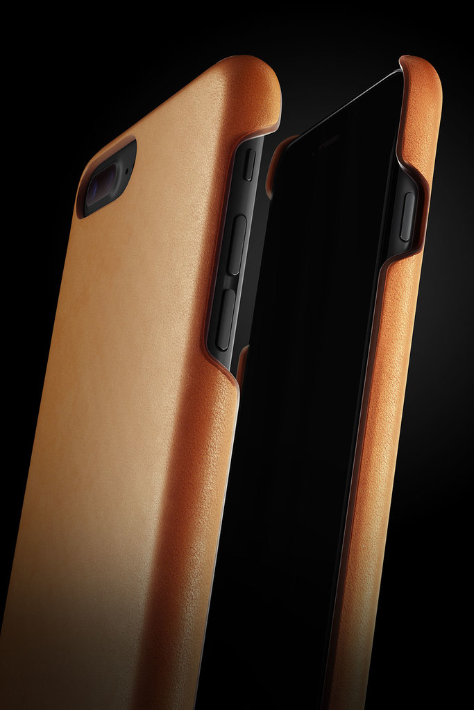 Leather Case for iPhone 7 Plus - Tan - 005