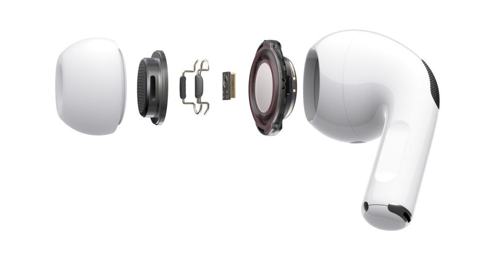 Apple Airpods Pro vnitřní konstrukce