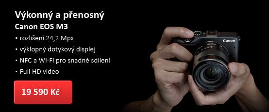Systémový kompakt Canon EOS M3 + 18-55 mm STM