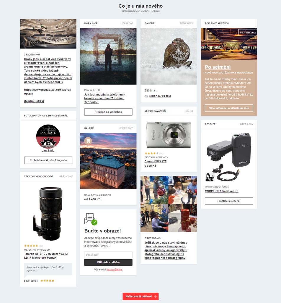 Nová HP Megapixel newsfeed